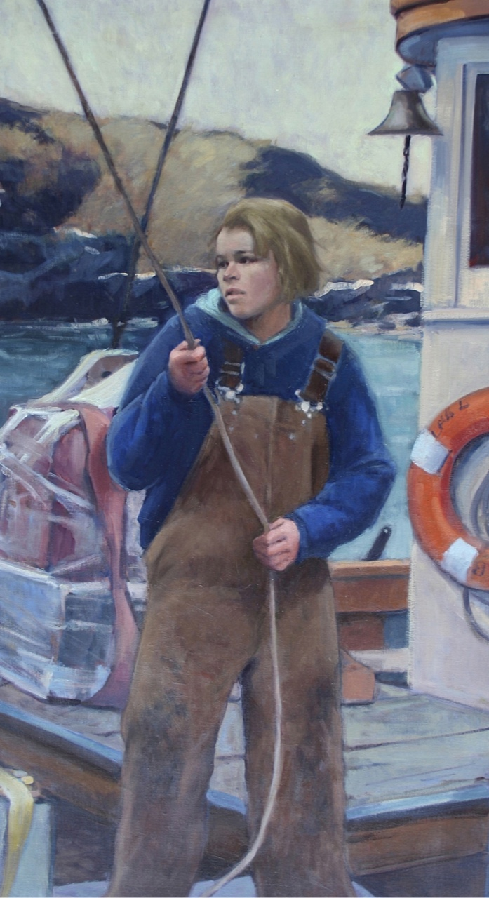 monhegan men In 2013, artist jamie wyeth painted a portrait of rockwell kent on monhegan island with his paintbrush and palette in hand in the background a body was falling off a cliff.
